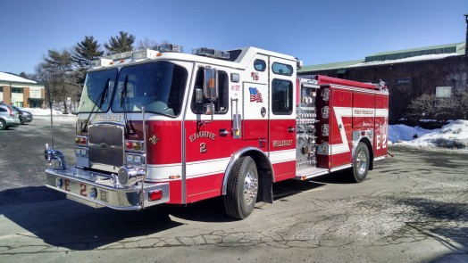 Wellesley Fire Department new engine, 2015