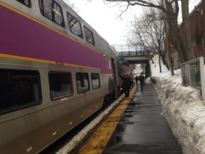 mbta commuter rail train wellesley