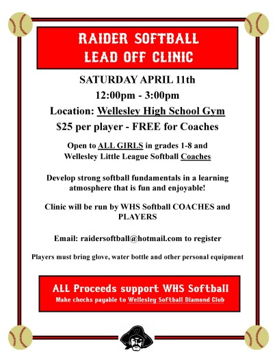 softball clinic wellesley