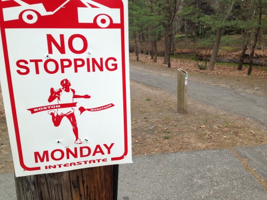 no stopping marathon sign