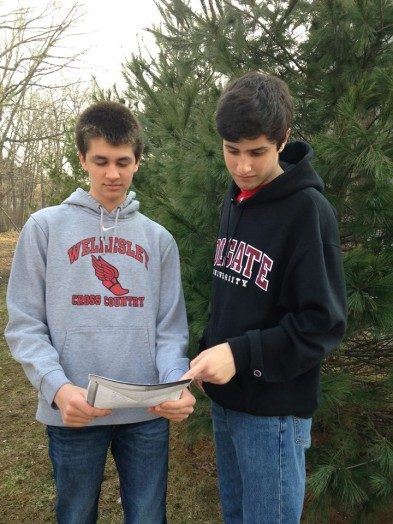 Budding leaders Eric Fichtel and Sam Gilman