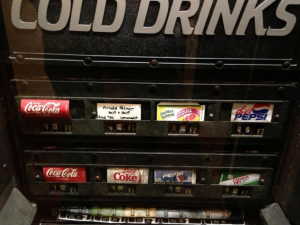 town hall soda machine