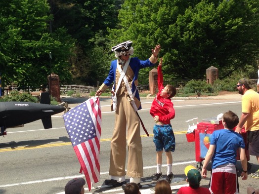 uncle sam high five wellesley parade