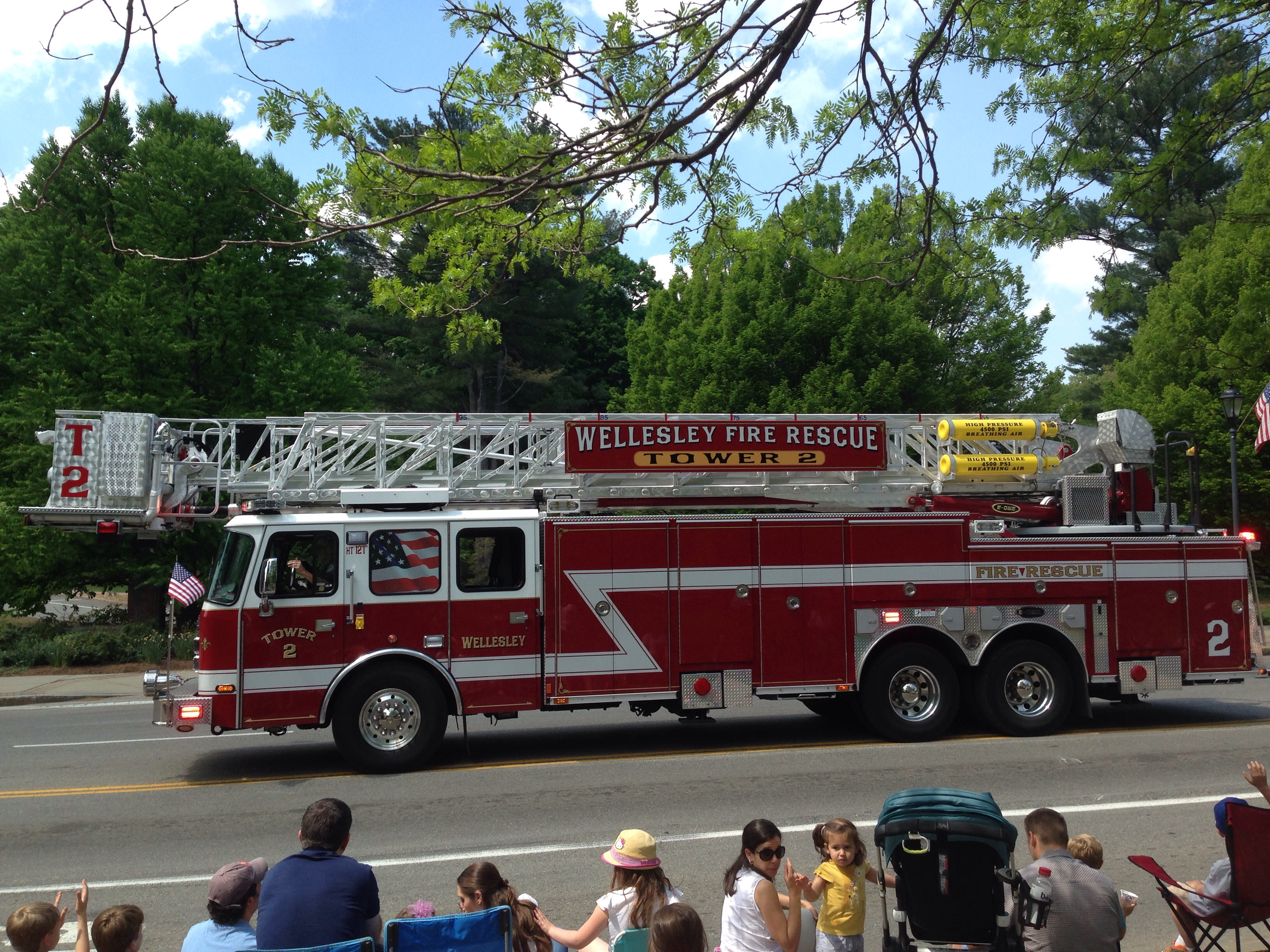 wellesley fire truck parade
