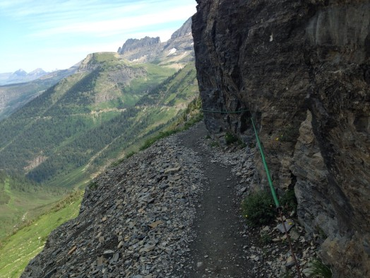 The hairy and beautiful Highline trail at Glacier National Park