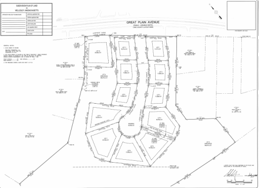 Great Plains Ave lot layout sheet