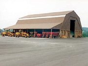 Wellesley's new salt and sand shed will look similar to this one.