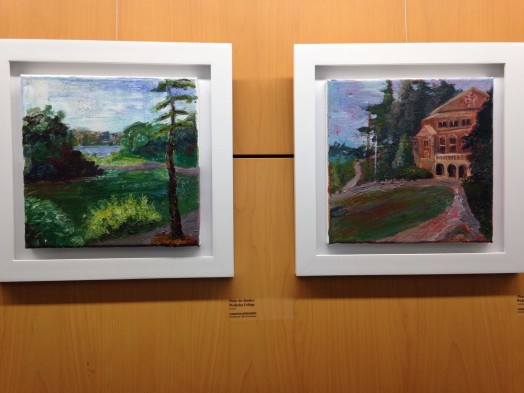 Plein Air Studies at Wellesley College, by Christine Desrosiers, Schofield and Fiske Schools art teacher.