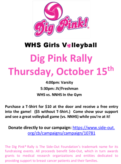 Dig Pink Volleyball Wellesley