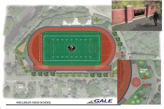 hunnewell track and field project rendering wellesley