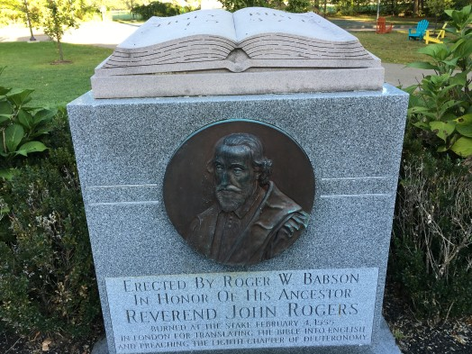 roger babson rock bible burned at stake wellesley
