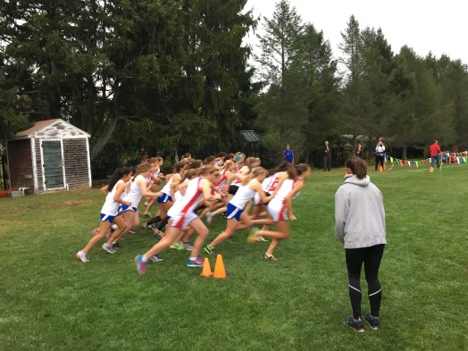 girls cross country vs natick brookline at elm bank