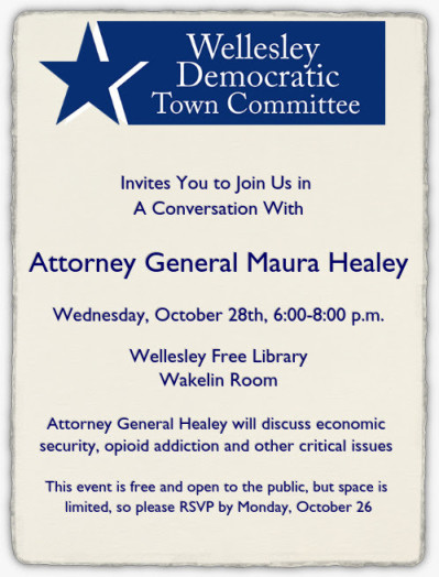 Maura Healey, Wellesley visit
