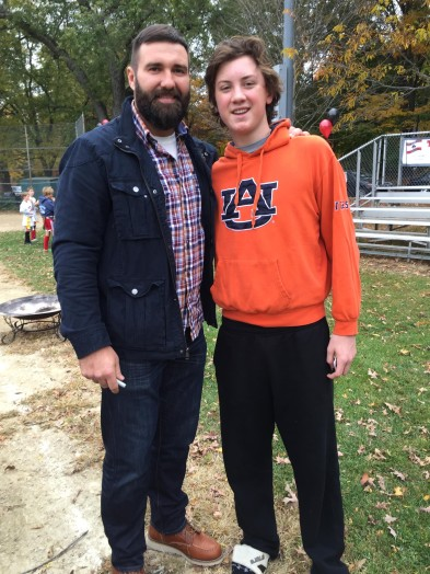 Ryan Madden, Rob Ninkovich, Wellesley Flag football fundraiser