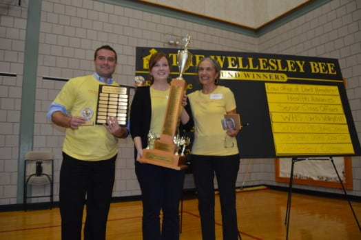 Winning team, Health Advances, revels in their glory. Left to right: Josh Meidenbauer, Melissa Lowder, Laura Eisenmann