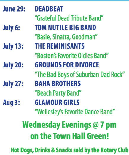 wellesley summer concerts