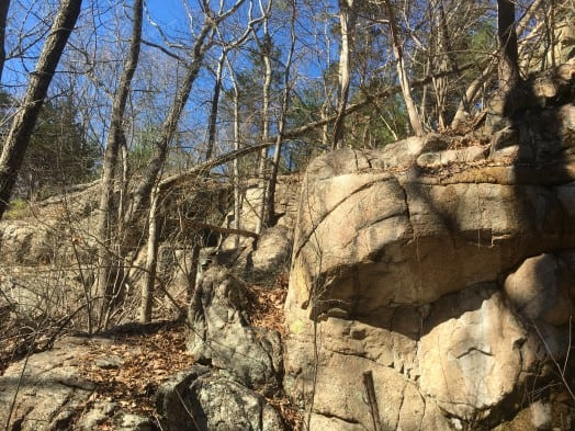 Rocky Ledges wellesley trails boulder brook reservation