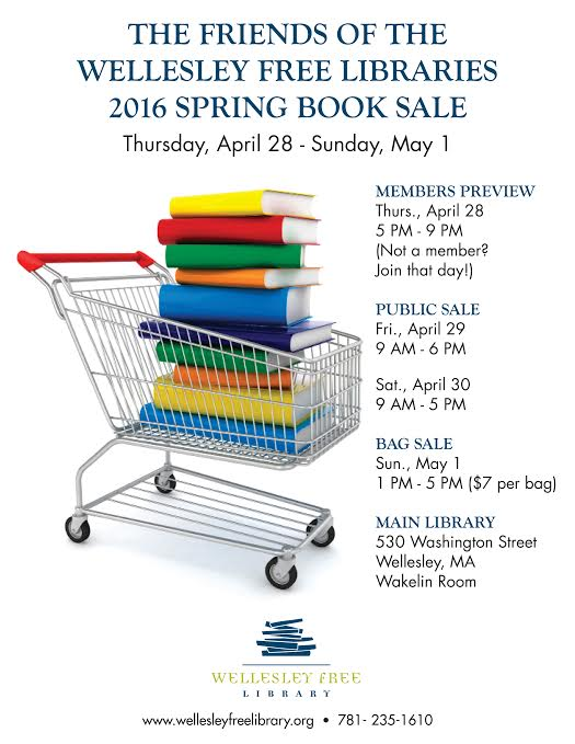 Wellesley, Spring book sale 2016