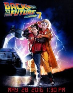Back to the Future party by Licata family