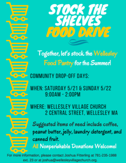 wellesley food pantry drive