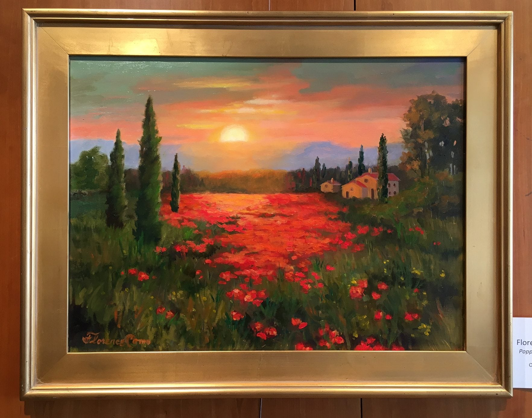 Poppies at Sunset, Florence Como
