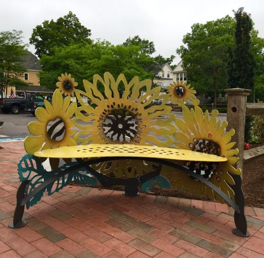 Church St. bench, Wellesley
