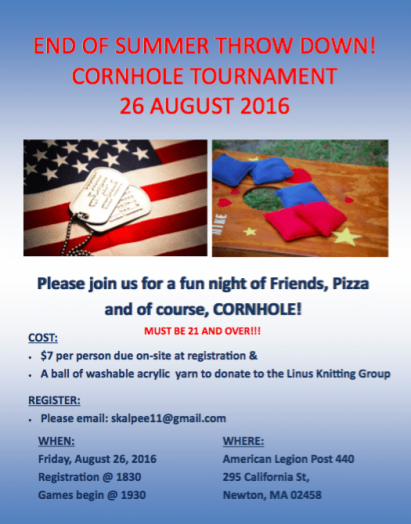 wellesley veterans cornhole tourney