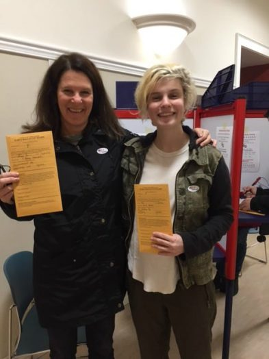 Betsy Kessler and daughter Emily -- a first time voter