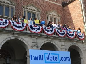 Chelsea Clinton rally at Wellesley College