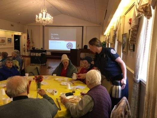 Wellesley firefighter/Council on Aging breakfast