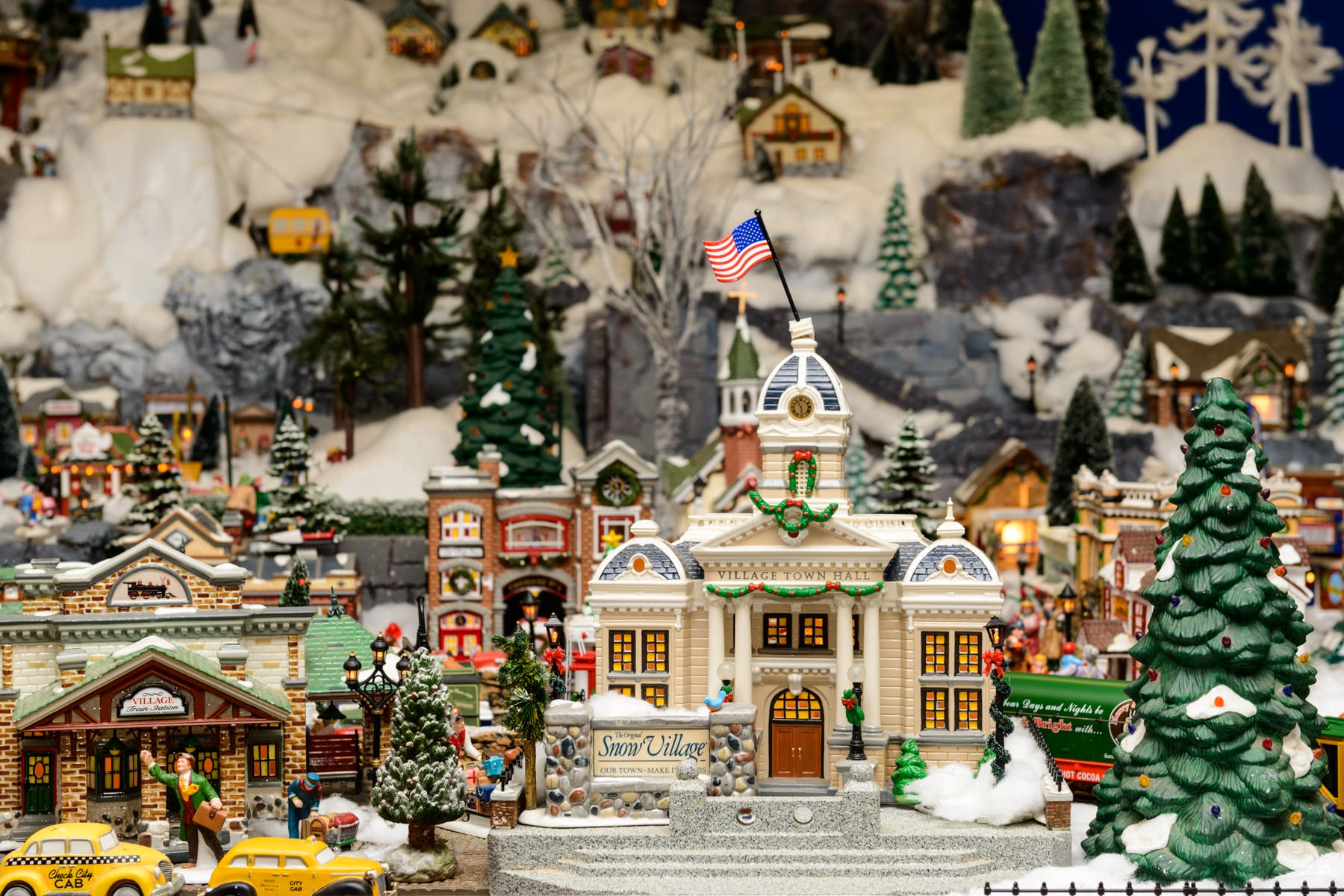 Snow Village, Mass Hort, Wellesley