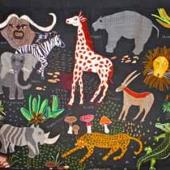 A wall hanging created by one of the Kopanang Trust.