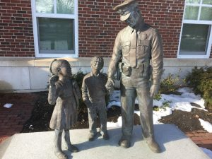 Wellesley police station sculpture