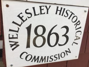 Wellesley Historical Society plaque