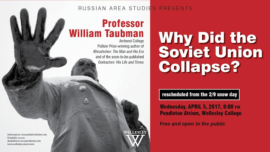 Wellesley College, Soviet Union Collapse