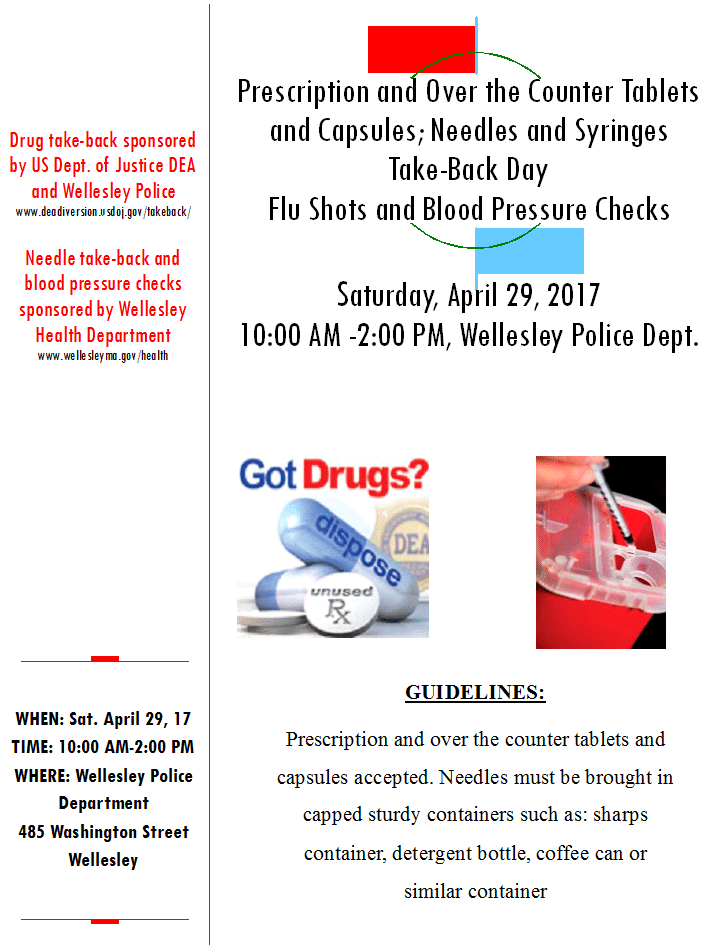 Wellesley Drug & Needle Take Back Day