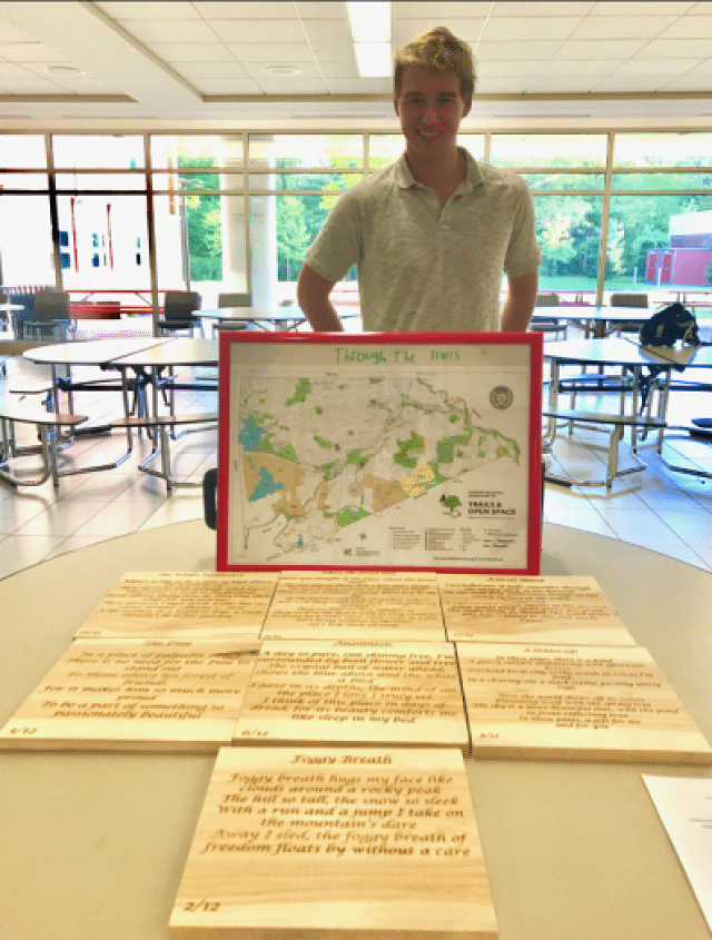 Kyle MacKinnon poetry and trails project in Wellesley