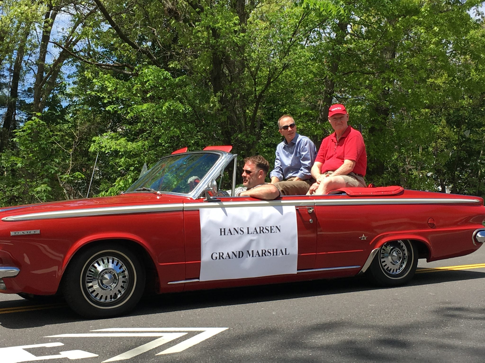 Hans Larsen, former town executive director, Wellesley Veterans Parade