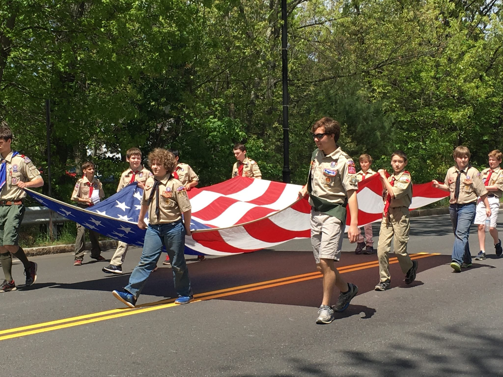 boy scouts, Wellesley Veterans Parade