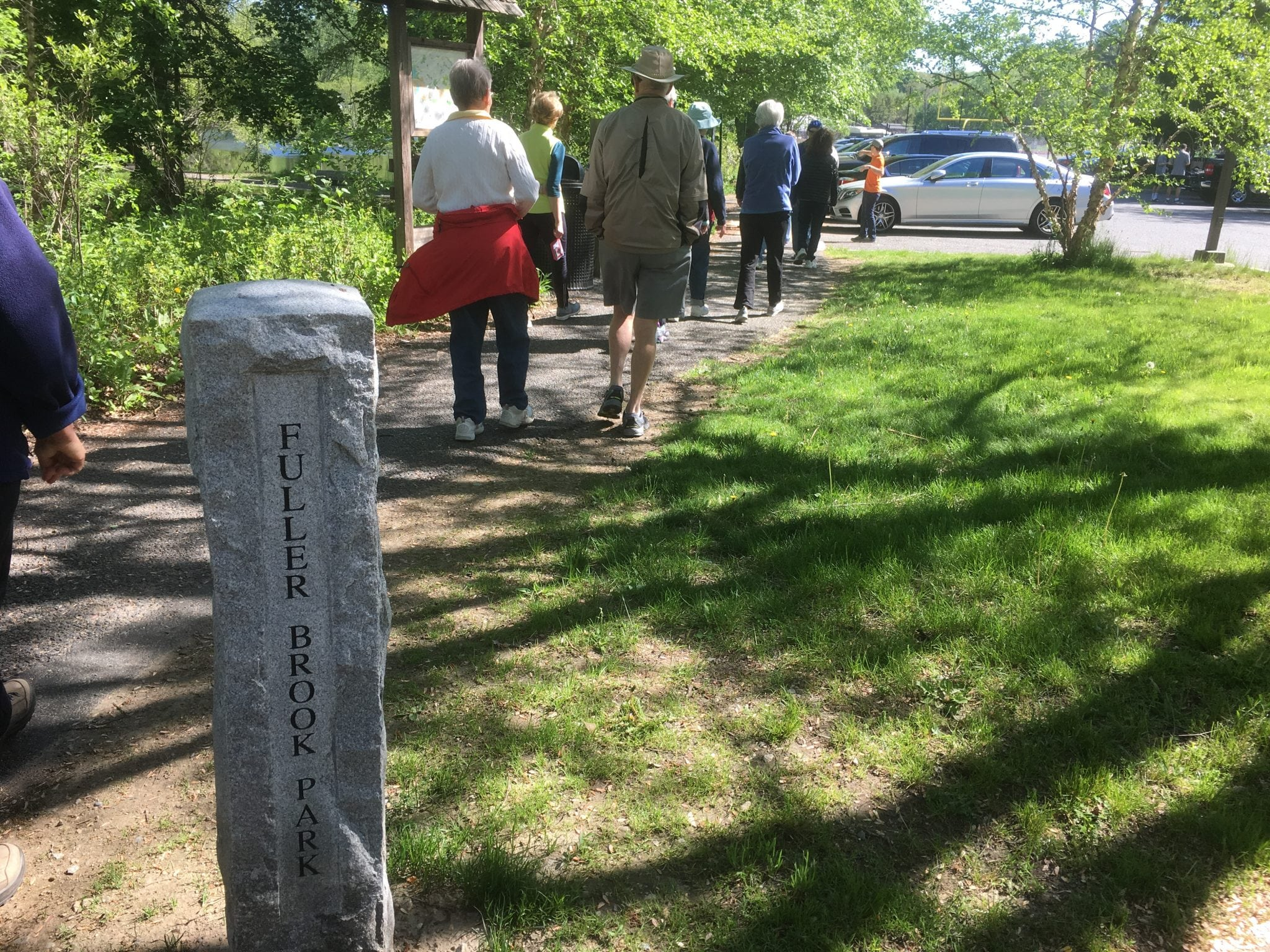 Wellesley Trails Committee-led walk of Fuller Brook Park's Brook Path