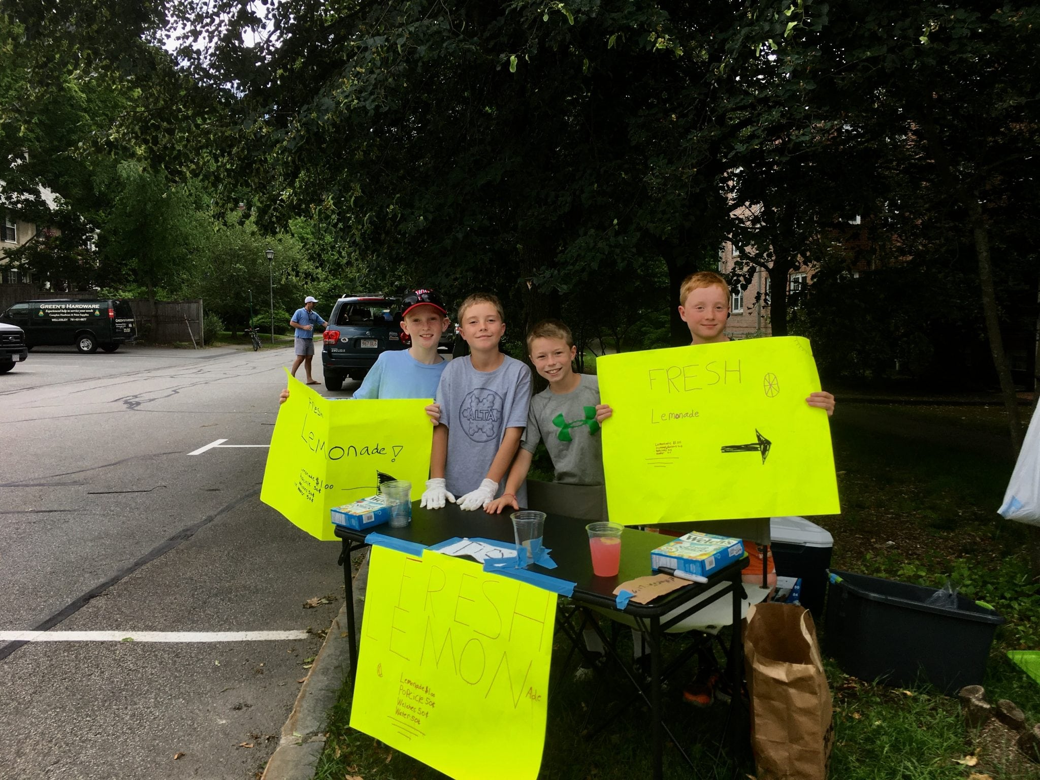 Wellesley lemonade stand