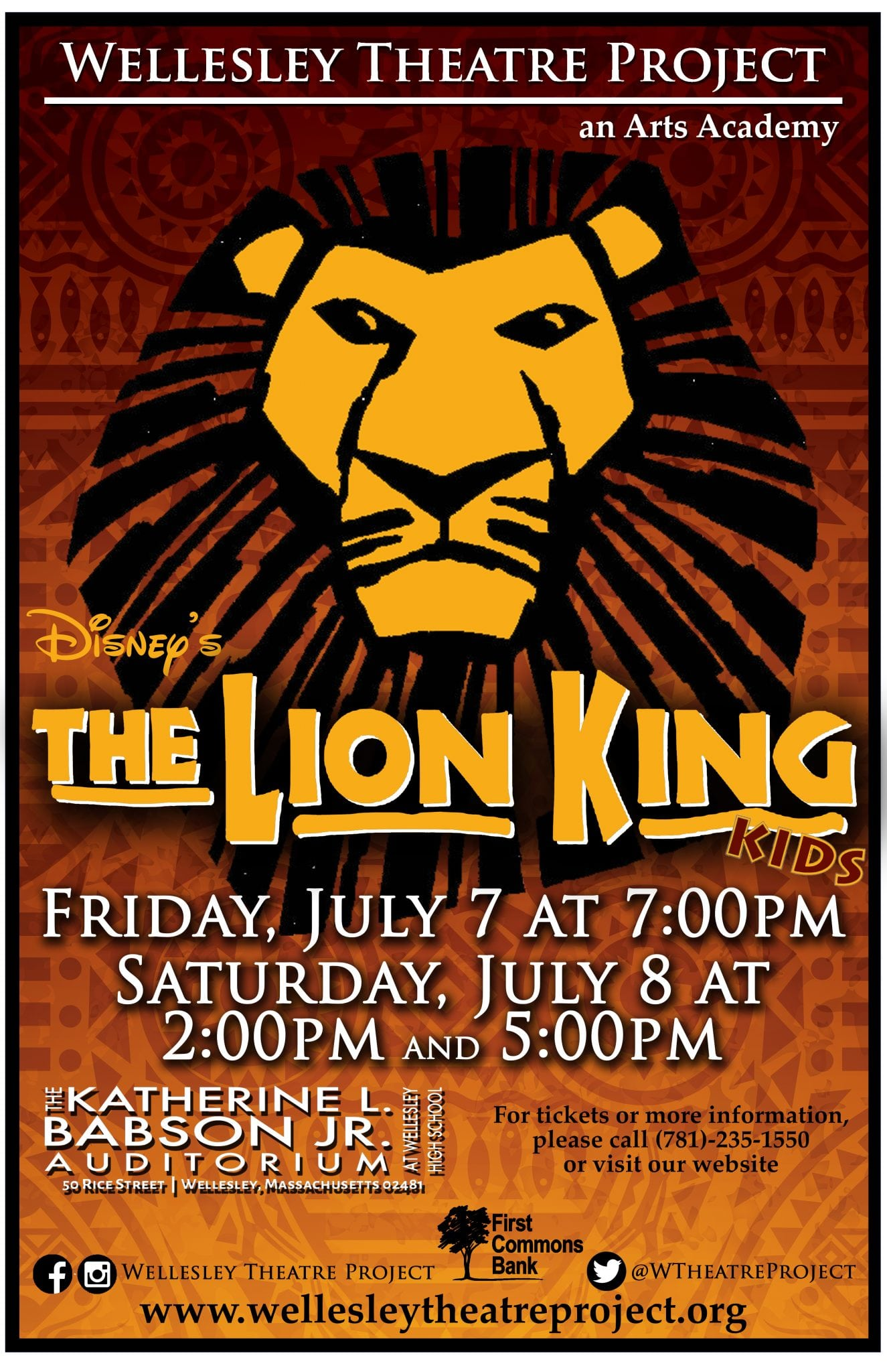 Wellesley Theatre Project, Lion King