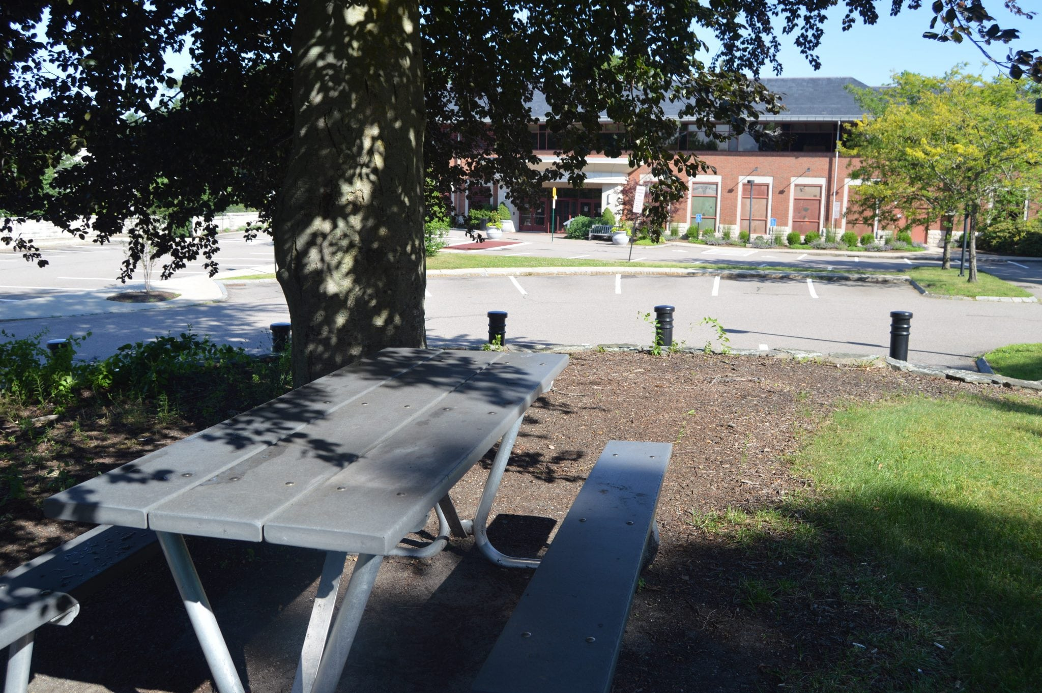 Wellesley Free Library picnic table