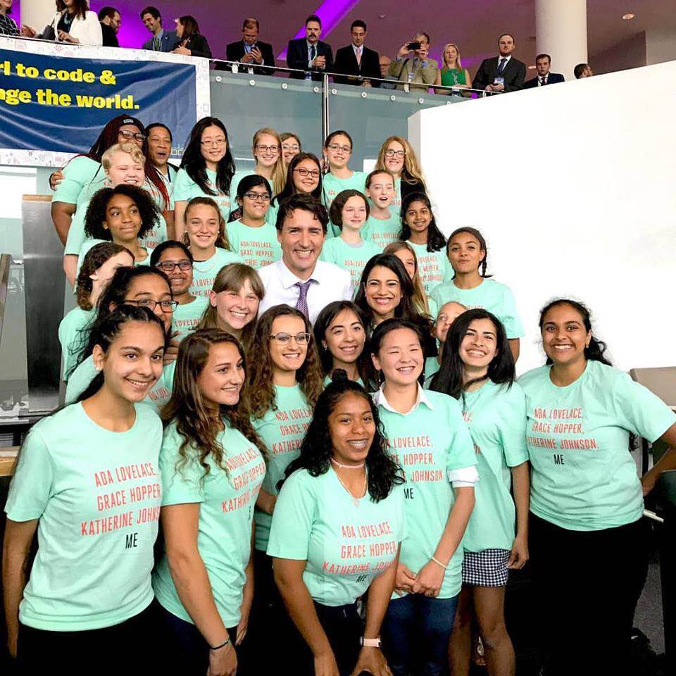 Girls Who Code Wellesley Canada Trudeau