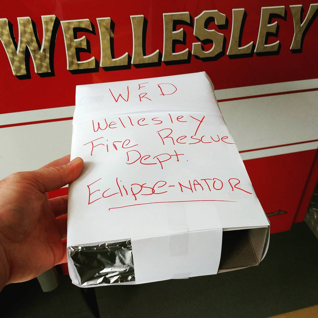 Wellesley Fire Department eclipse