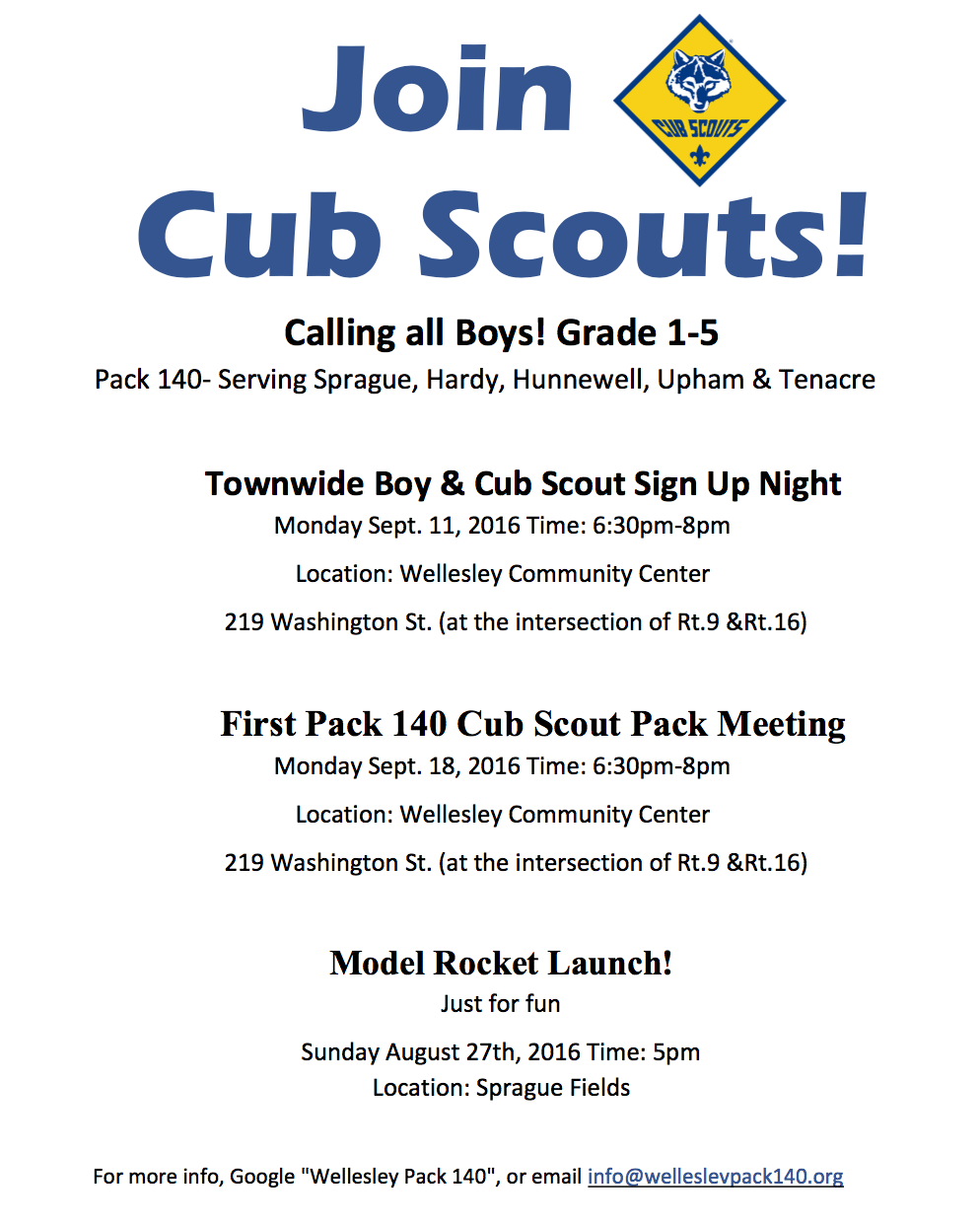 Wellesley Cub Scouts