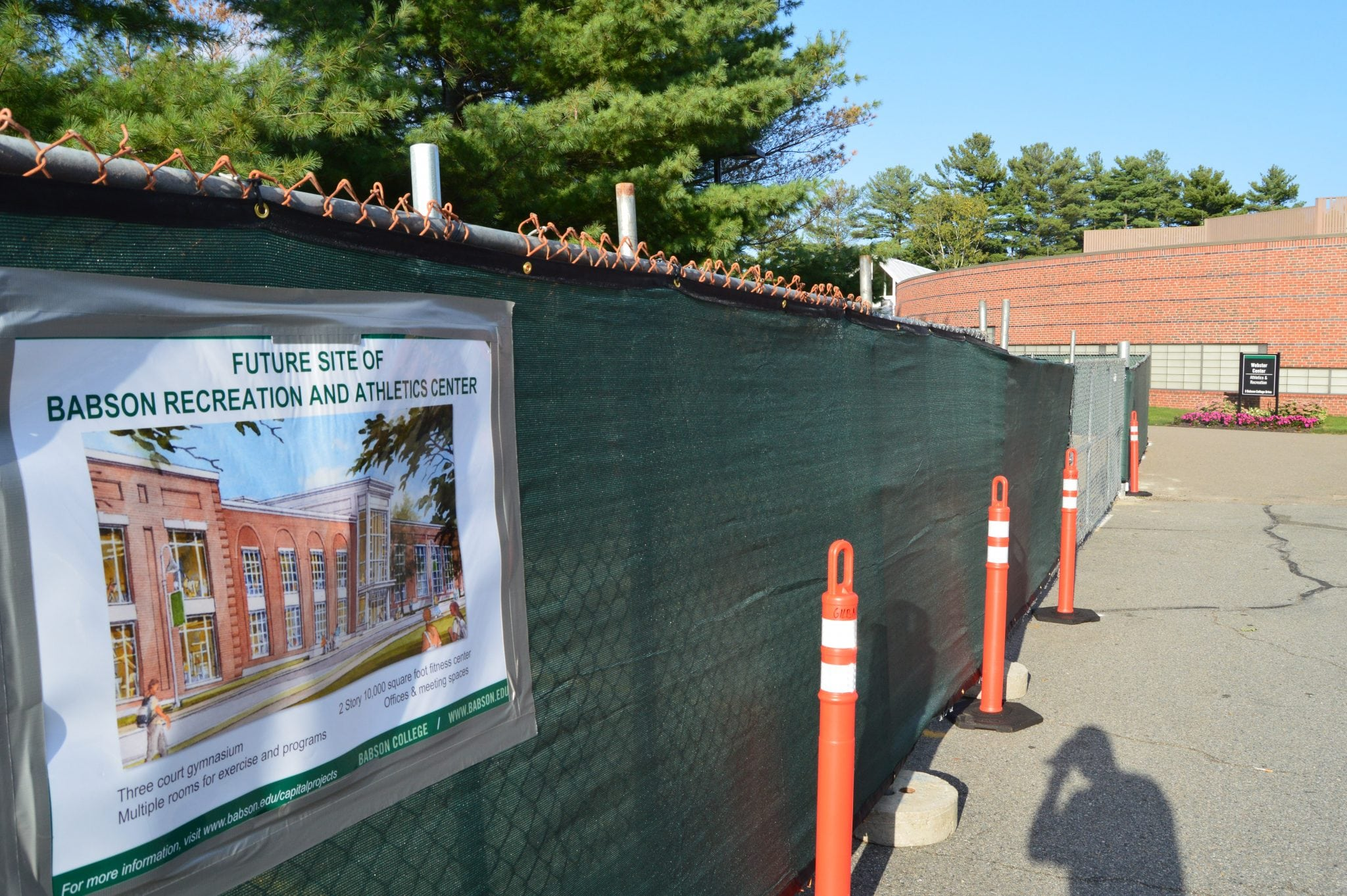 babson tennis athletics construction
