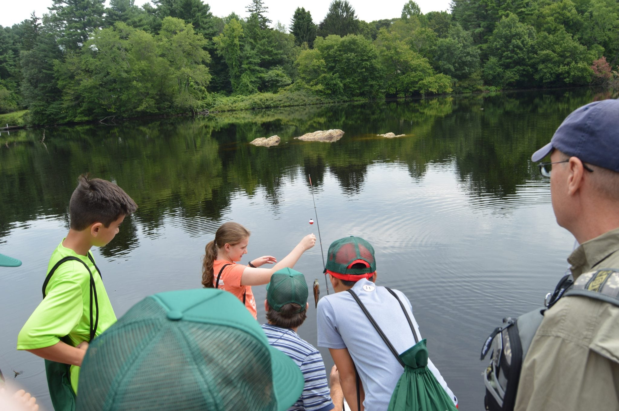 Wellesley Eco Camp Guernsey fishing sabrina lake