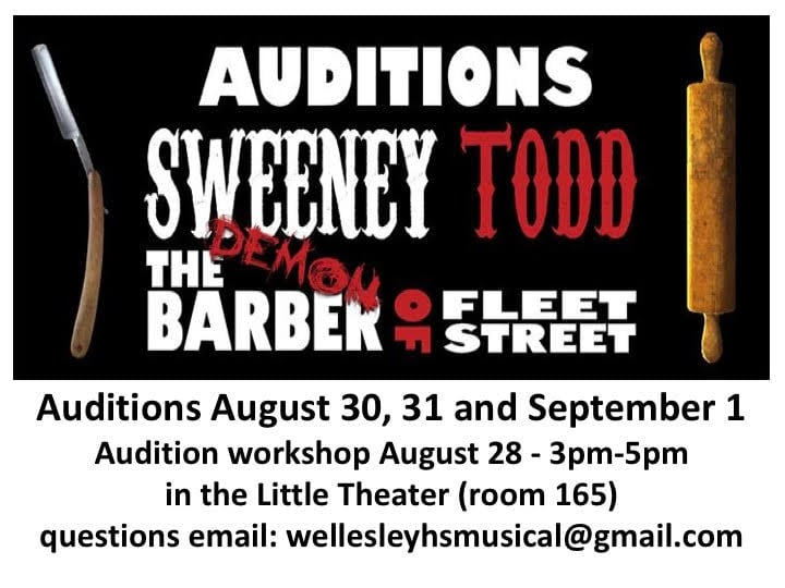 Wellesley Sweeney Todd auditions