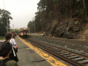Wellesley Hills commuter rail train station